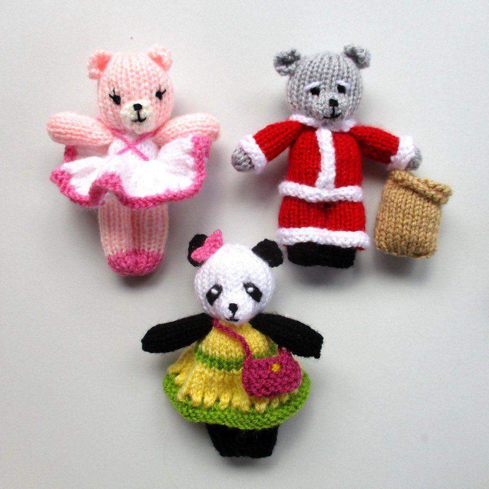 Busy Little Bears Knitting pattern by Dollytime | Teddy ...