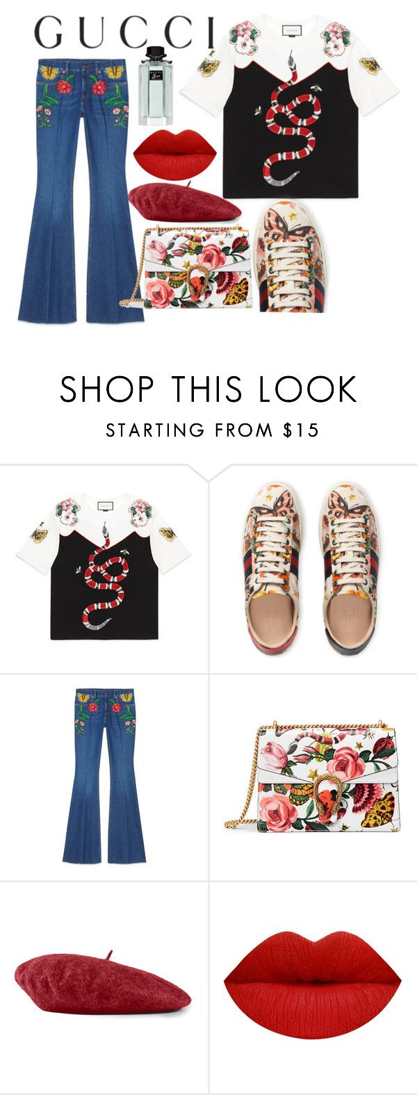 """Presenting the Gucci Garden Exclusive Collection: Contest Entry"" by emisosamansilla ❤ liked on Polyvore featuring Gucci and gucci"