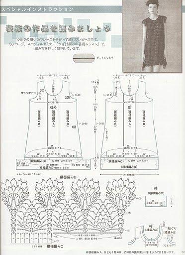 Graficos y Crochet: Vestido en Negro