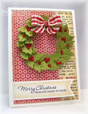 Bridget's Paper Blessings: Holly Wreath