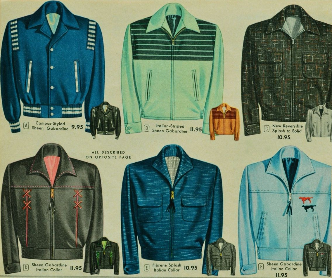 Gabardine Jackets 1950s Fashion Menswear Vintage Jacket Mens Fashion Suits Formal