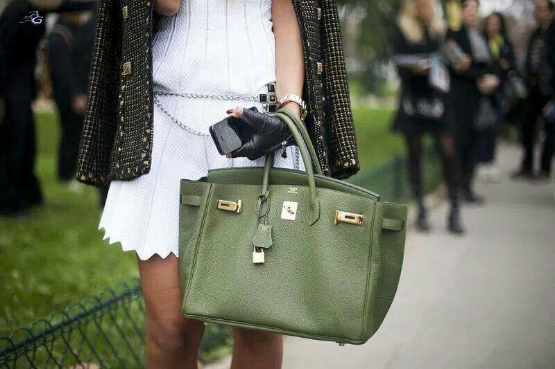 ef89f9972c4 Green Birkin bag