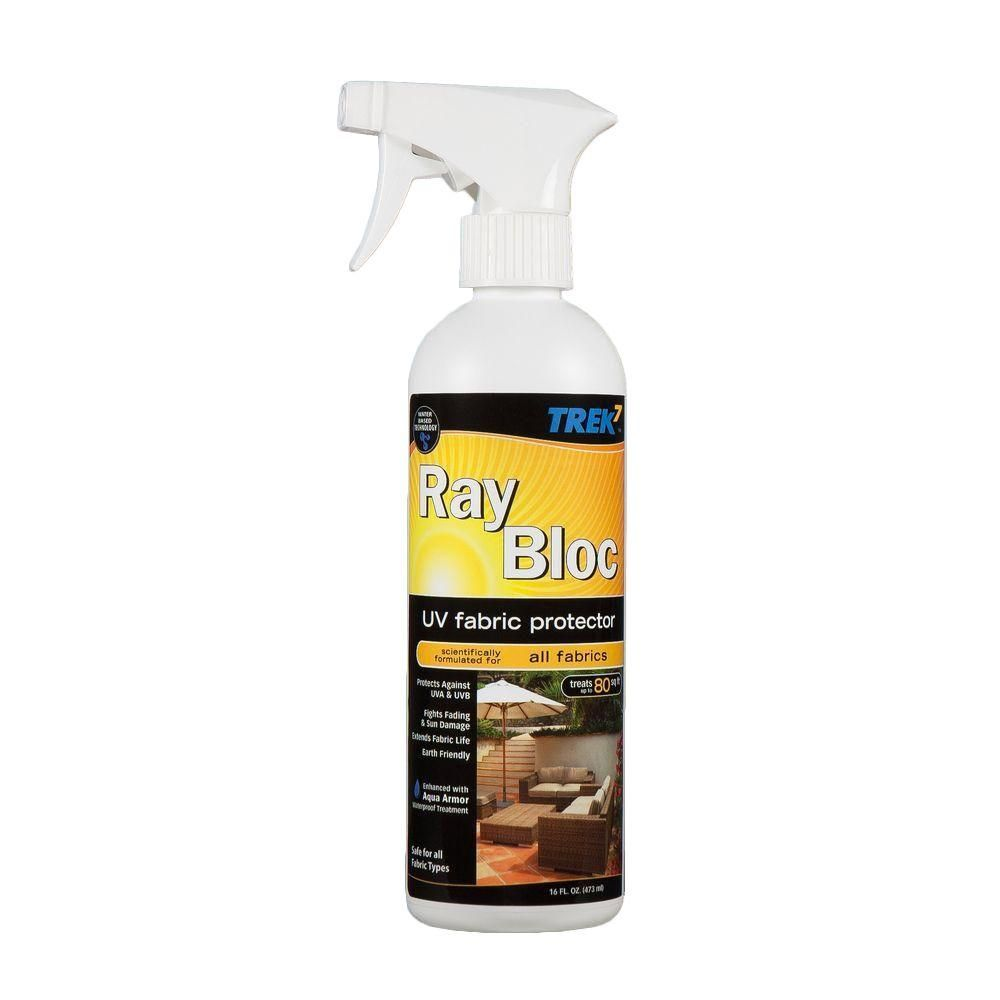 Trek7 16 Oz Ray Bloc Uv Fabric Protector Spray Rbuv16 Uv Fabric Green Carpet Cleaning Spray
