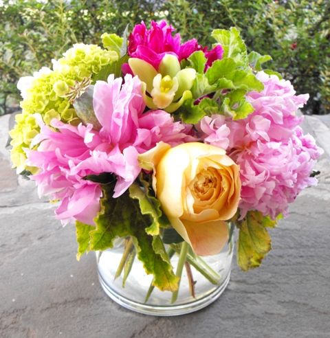 peony garden rose centerpiece for bridesmaids luncheon - Garden Rose And Peony