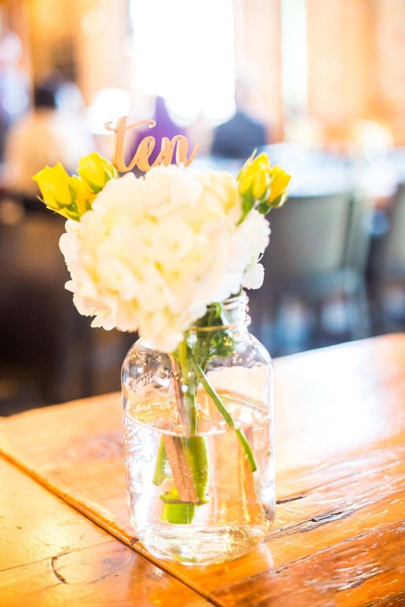 A cheerful spring wedding with yellow accents yellow accents