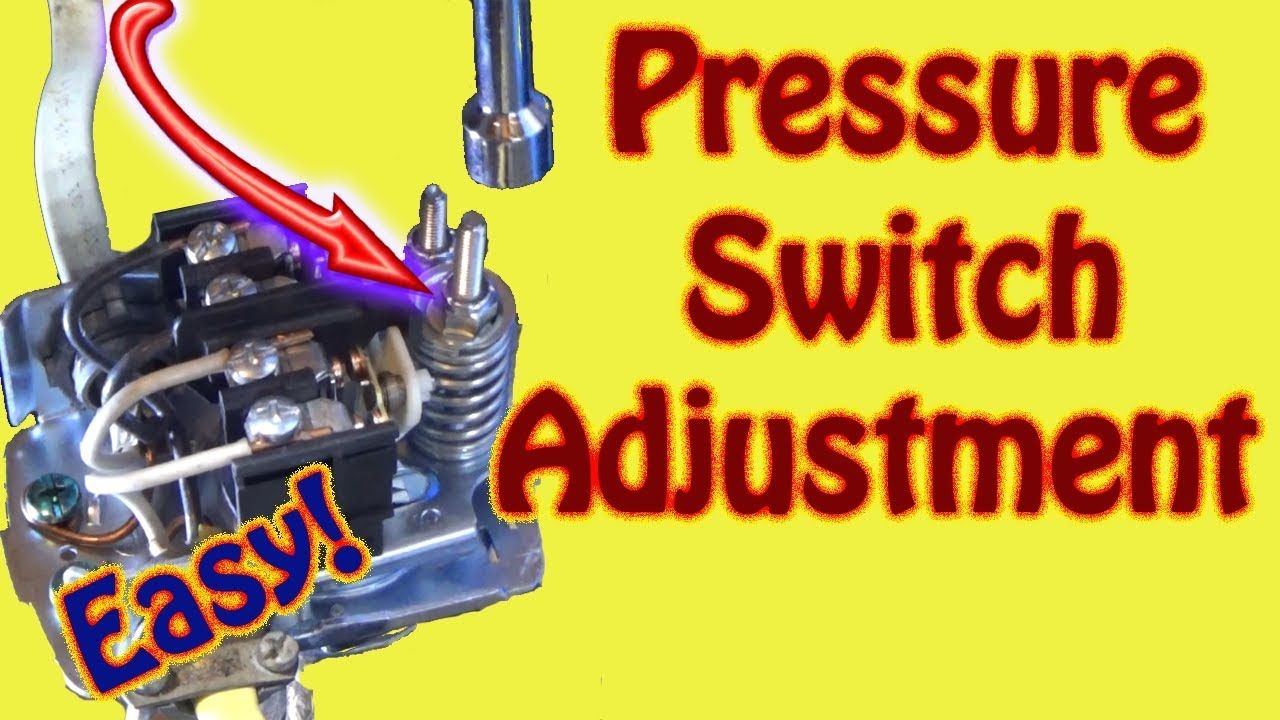 How to Adjust a Water Well System Pressure Switch and