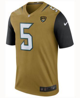 Nike Men s Blake Bortles Jacksonville Jaguars Legend Color Rush Jersey -  Gold L 75b5acb01