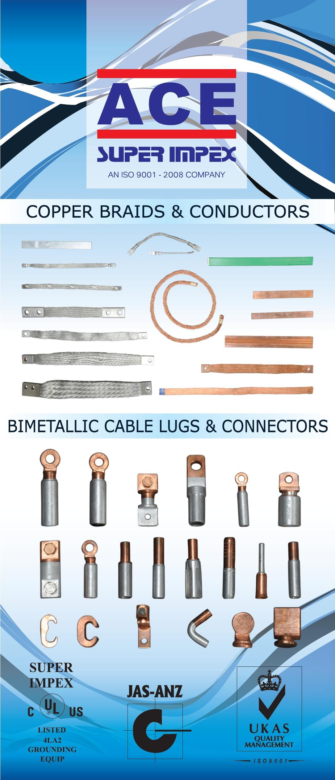 #flatbraids #roundbraids #flexibleconnectors #compressedconductors #conductingtape #flexiblestrandedropes #roundbraids #transformers