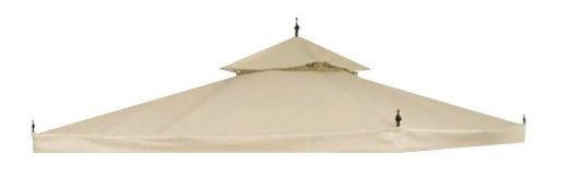 Yescom 10x10ft 2 Tier Waterproof Gazebo Canopy Replacement Beige Outdoor Garden Yard Patio Top Cover With Images Replacement Canopy Patio Umbrella Patio