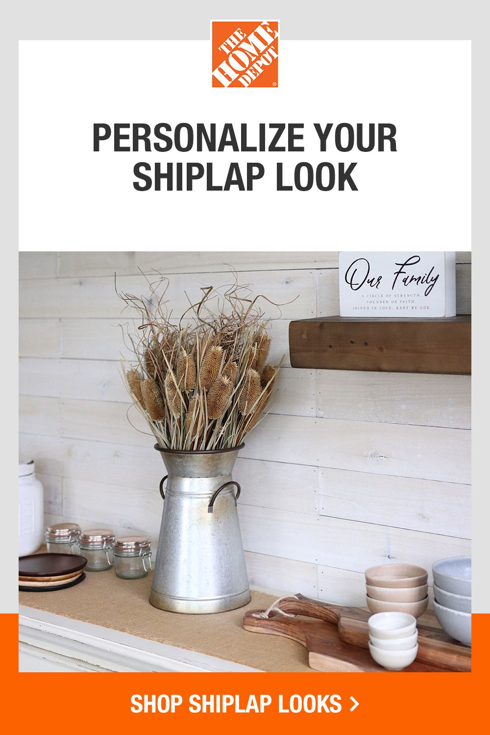 Refresh your space with a wide selection of shiplap looks from The Home Depot. Get help with your DIY with easy-to-follow how-to guides, and rent all the tools you need to complete your project. Tap to shop shiplap looks at The Home Depot.