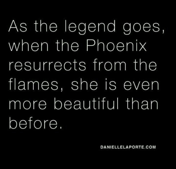 Phoenix. How is this not a fibro symbol? The butterfly... Eh. Too delicate. We are not delicate. We are strong. We endure things day to day that healthy people couldn't imagine.