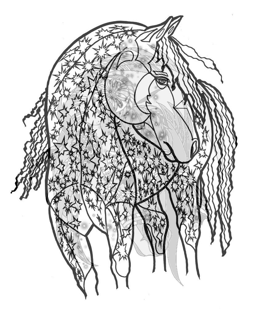 Adult coloring book horses adult coloring and coloring books