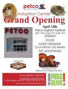 Grand Opening Of Petco Adoption Center Petco At Ingram Festival San Antonio Texas United States Adoption Center Petco Adoption