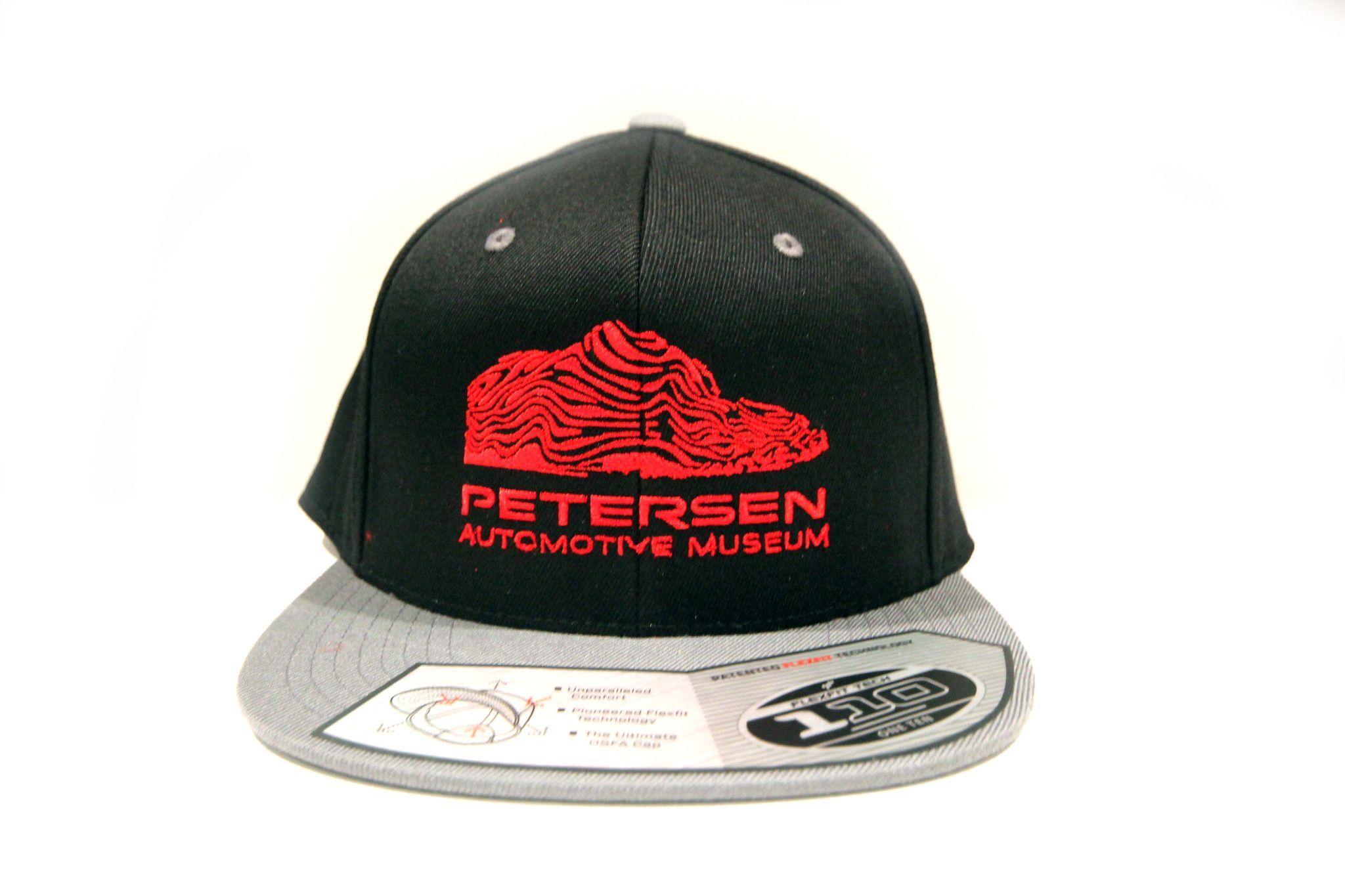 Petersen Museum Wave Black/ Grey Logo Flat Bill Hat