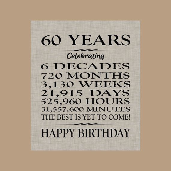 60 Birthday Sign Sixty Birthday Gift Sixty Birthday Banner Etsy 60th Birthday Cards 60th Birthday Ideas For Dad 60th Birthday Banner