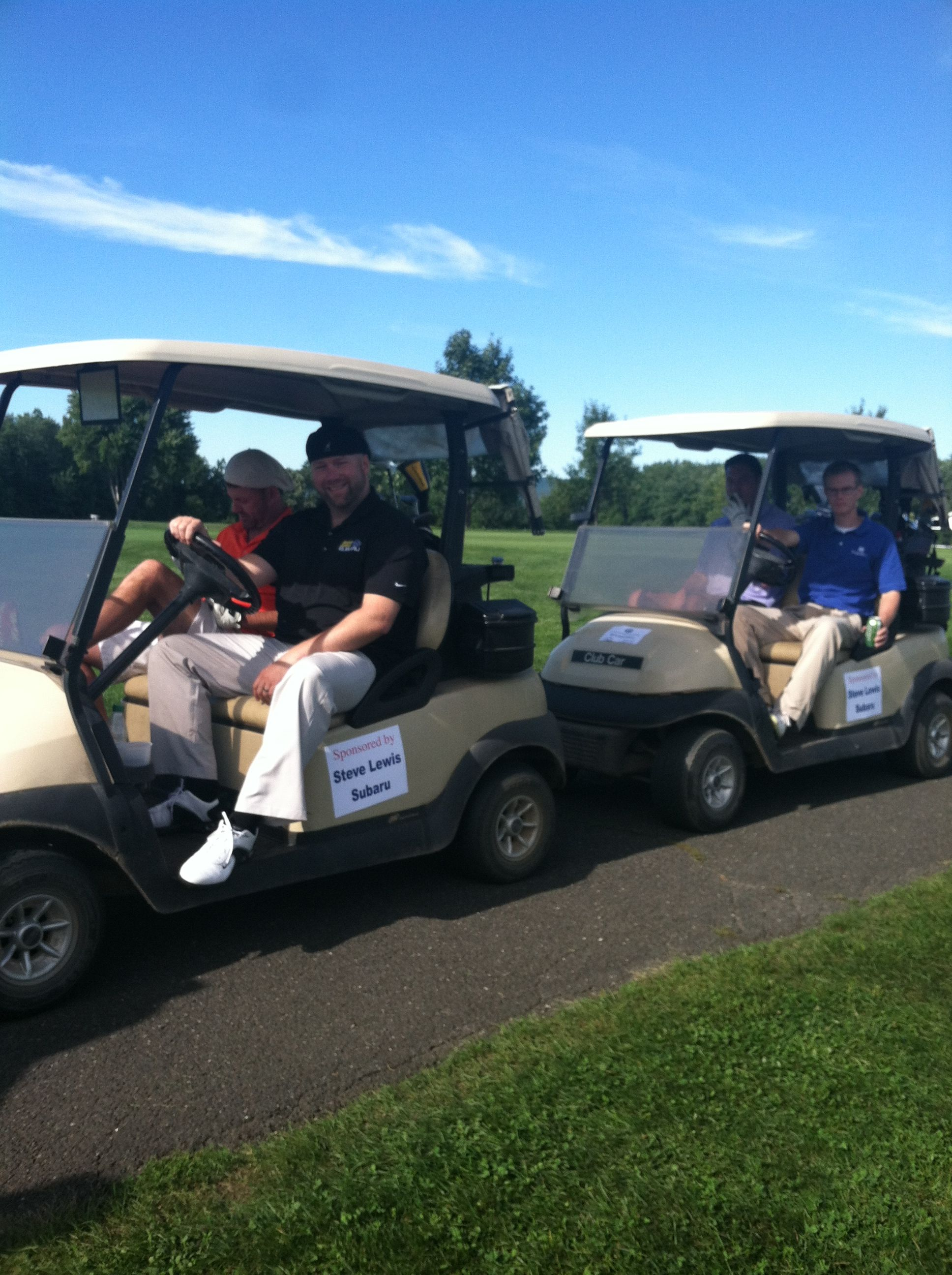 Winners of the Leprechaun Plunge Golf Tournament! | Oh The Places We on maleficent golf cart, unicorn golf cart, ghostbusters golf cart, predator golf cart, gnome golf cart,