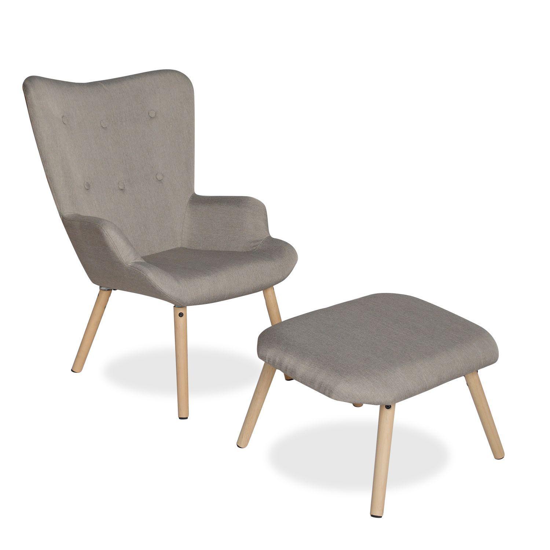 Silla ottoman freather cappuccino sillas icono del - Sillas madera ikea ...