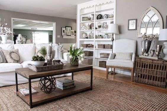 Arredare il soggiorno con il color tortora colori pareti taupe