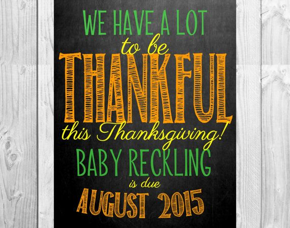 thanksgiving chalkboard pregnancy announcement photo prop