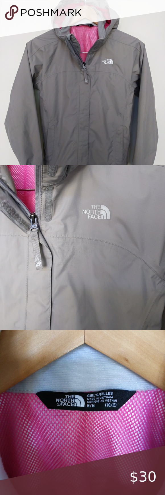 The North Face Girls Jacket Dry Vent Waterproof M Girls Rain Jacket The North Face M 10 12 Waterproof All Seas North Face Girls Girls Jacket Girls Rain Jackets [ 1740 x 580 Pixel ]