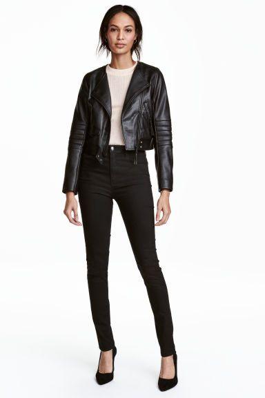 83e480f88ec Trousers High waist in 2019 | pants | Red dress pants, H&m black ...