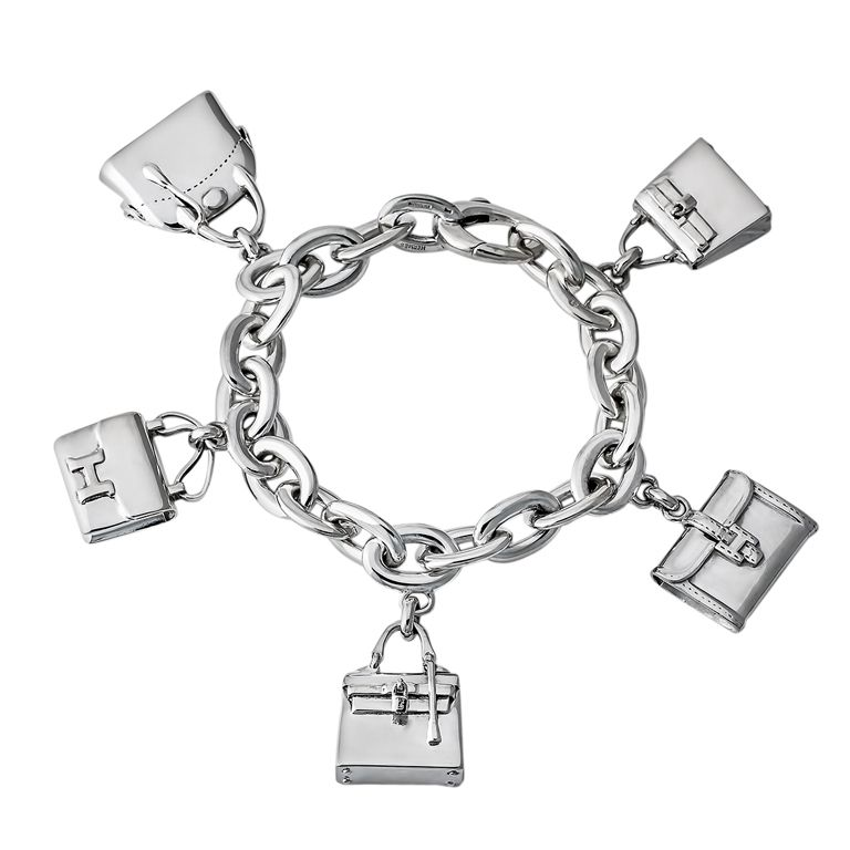 61e4a4a2438 1stdibs - Hermes Vintage Sterling Silver Bag Charm Bracelet explore items  from 1,700 global dealers at 1stdibs.com