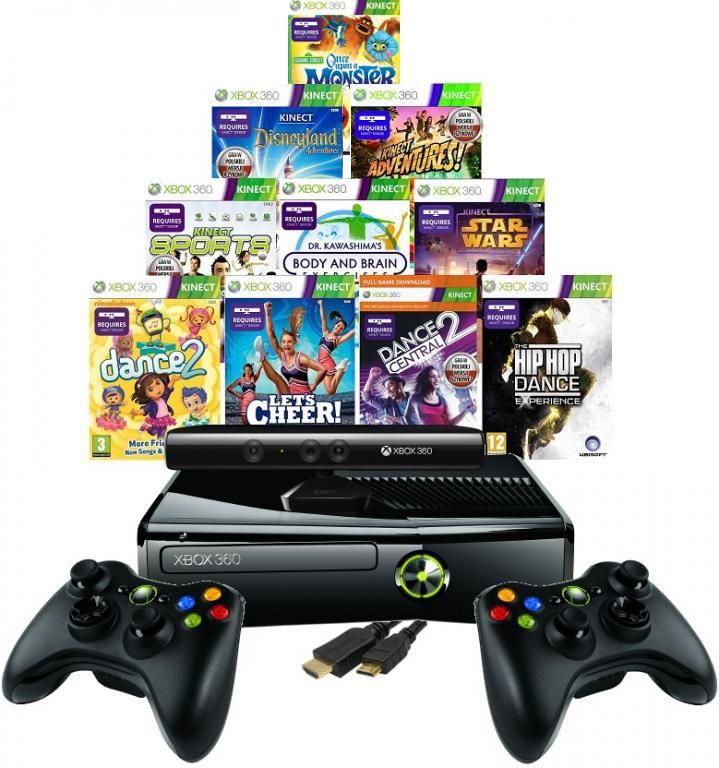 Konsola Xbox 360 Slim 320gb Kinect 43 Gry 2x Pad 3785226715 Oficjalne Archiwum Allegro Kinect Xbox Kinect Xbox