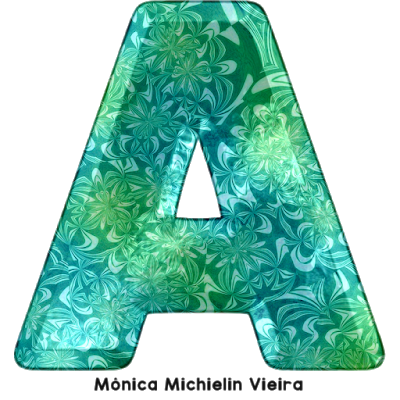ALFABETO FLORAL AQUÁTICO PNG ALPHABET WATER AND FLORAL