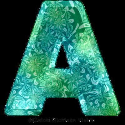 ALFABETO FLORAL AQUÁTICO PNG ALPHABET WATER AND FLORAL