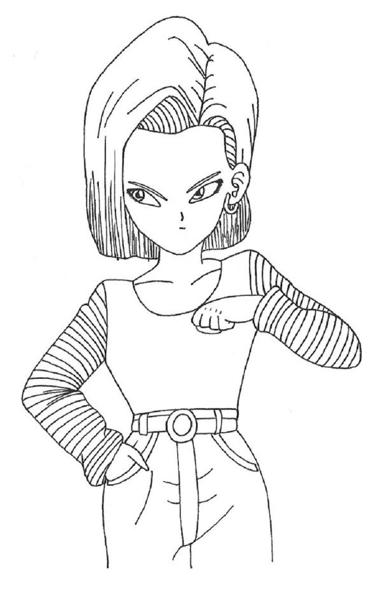 Dragon Ball Z Coloring Pages Android 18 Dragon Ball Z Dragon Ball Dragon Ball Super Goku