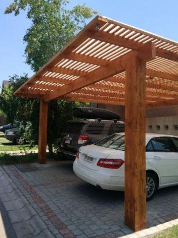 Proyectos p rgolas terrazas for Modelos techos para garage