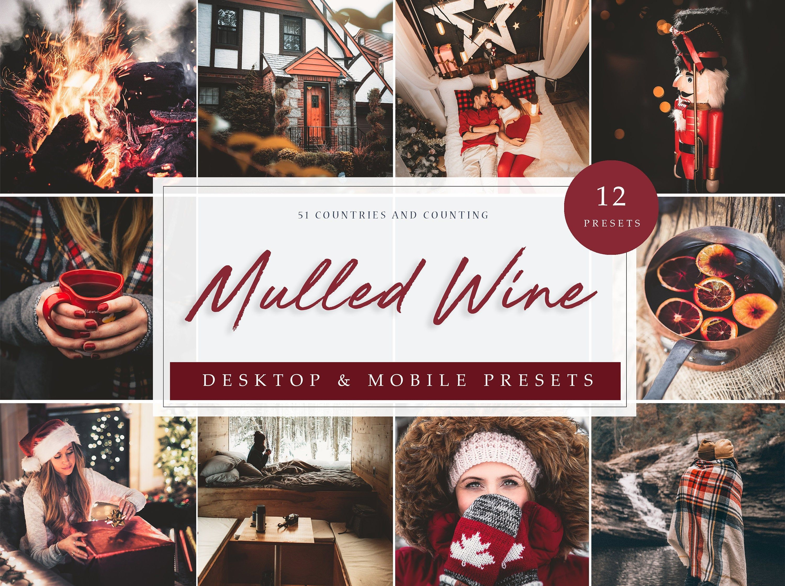 12 X Lightroom Presets Mulled Wine Theme Christmas Etsy In 2020 Lightroom Presets Free Installing Lightroom Presets Wine Theme