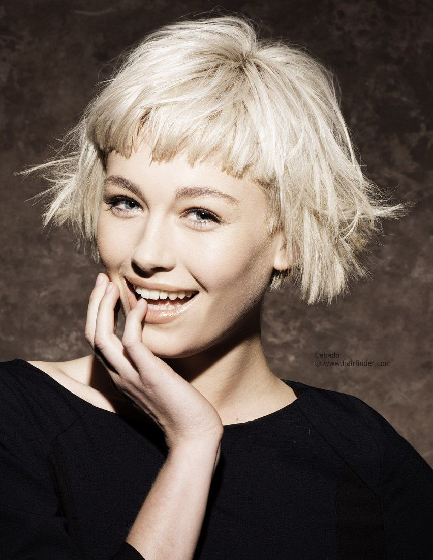 Short blunt bob hairstyle with bangs short hairstyles - Find This Pin And More On Hairzzz Short Hairstyles With Bangs