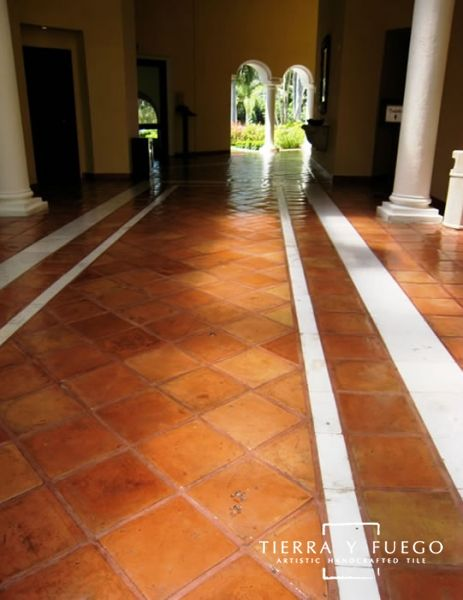 11 5 X 11 5 Unsealed Regular Saltillo Square Edges Floor Tile Flooring Tile Floor Terracotta Floor