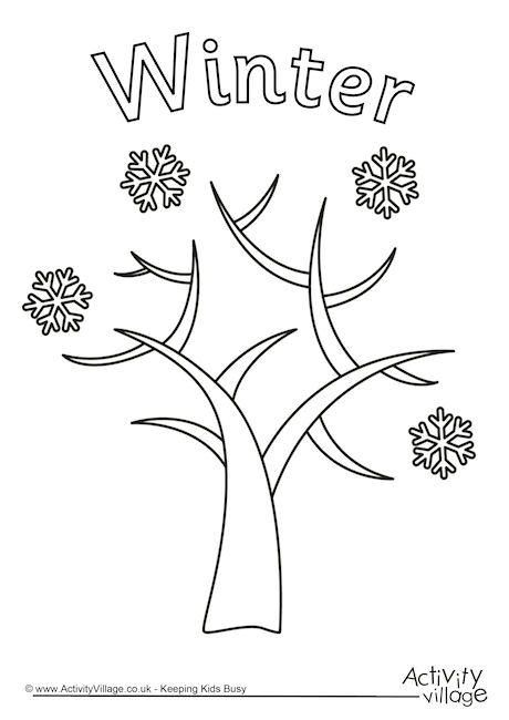 Winter Tree Colouring Page Tree Coloring Page Coloring Pages