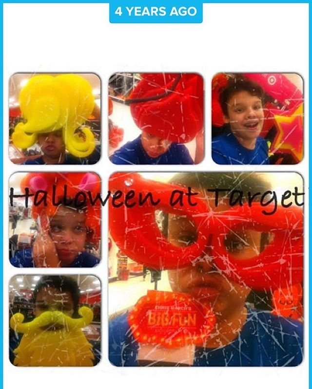 That time I was at Target playing with the Halloween stuff My