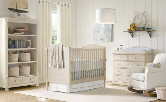 Cream White Baby Blue Nursery Baby Room Ideas Baby Blue Nursery