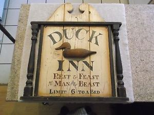 Antique Wooden Signs Marthas Vineyard Antique Duck Inn Sign On