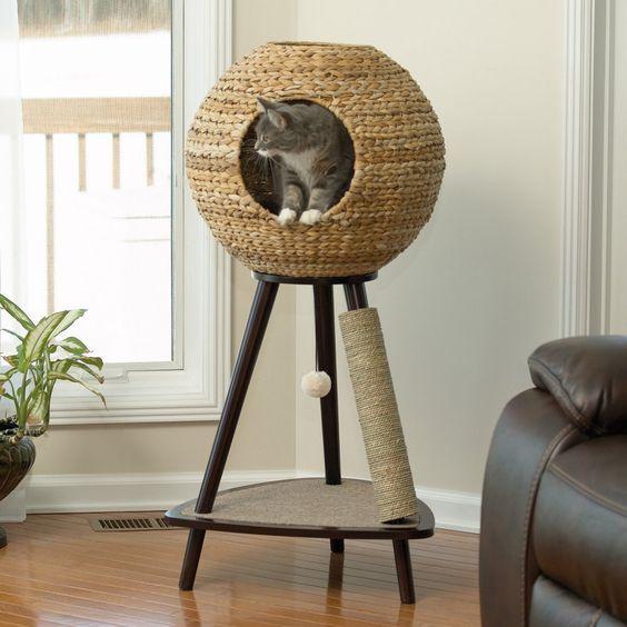 Arbre chat 25 mod les originaux rep r s sur pinterest dormir felin et jouer - Tuto arbre a chat ...