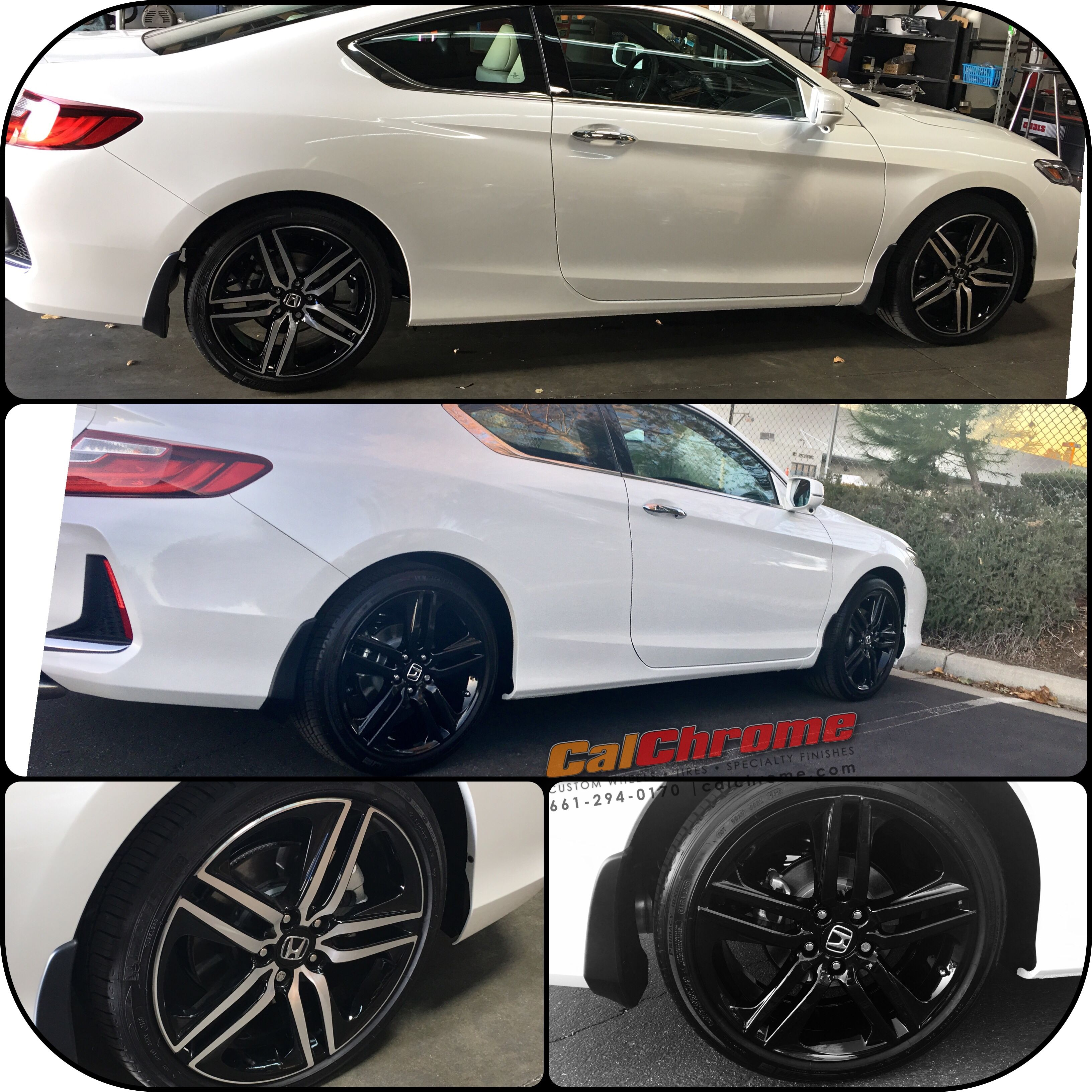 """2017 Honda Accord coupe touring with 19"""" ultimate wet gloss black"""