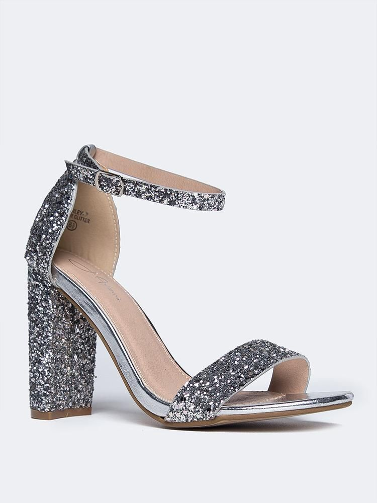 e50230372da Shirley Heeled Sandal in 2019 | Heels <3 | Shoes heels boots, Silver ...