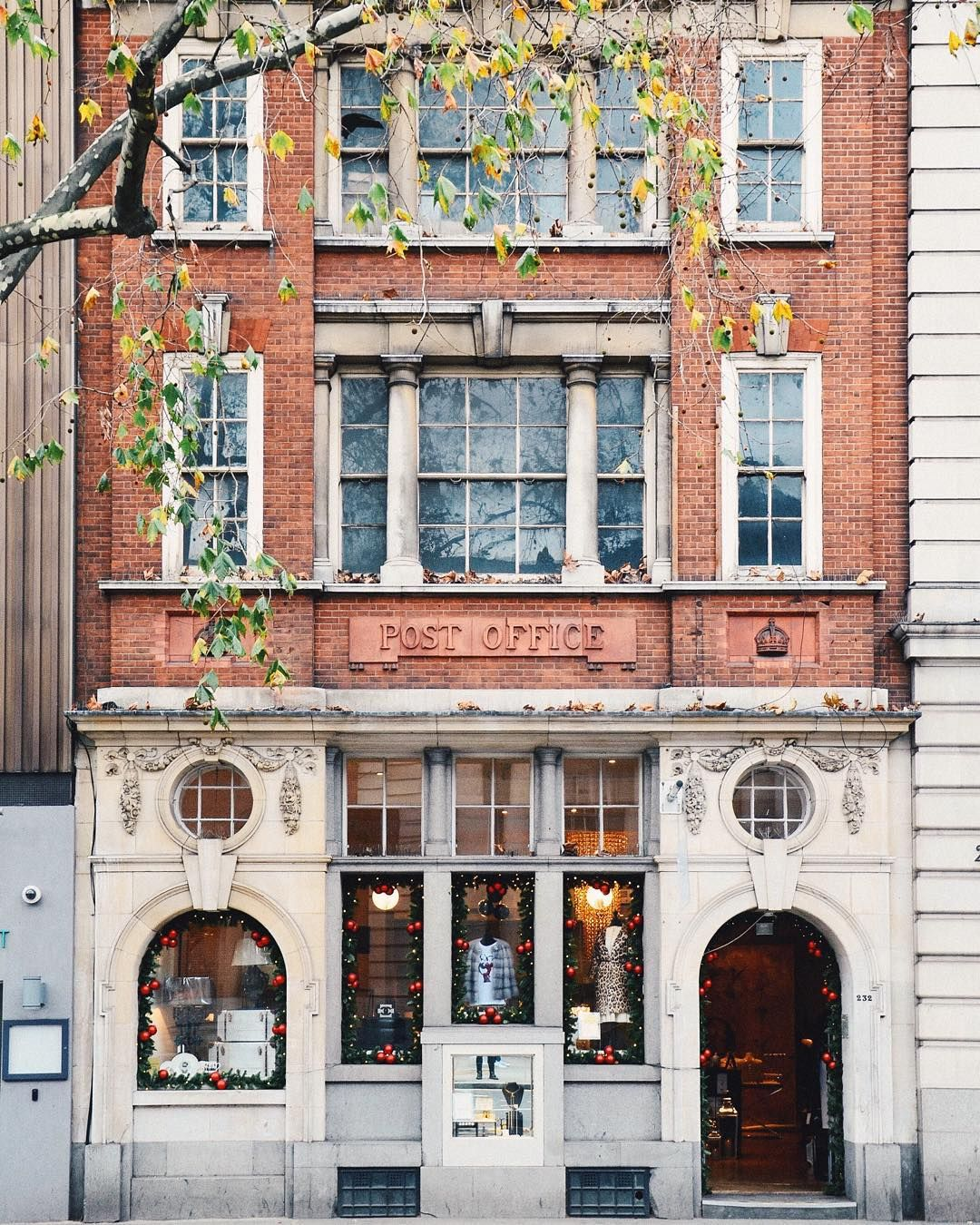 storefront of a shop in a converted post office, london