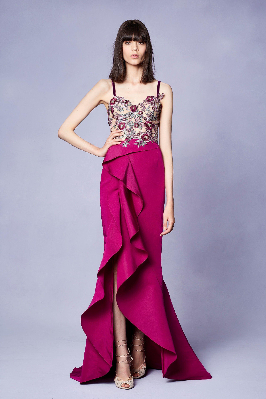 Marchesa Resort 2018 Fashion Show | Couture, Vestiditos y Vestidos ...