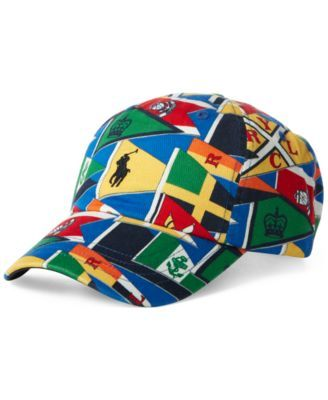 a25cc02635c6d Men s Burgee Flag Cap  59.50 This baseball cap from Polo Ralph Lauren  stands out with bold