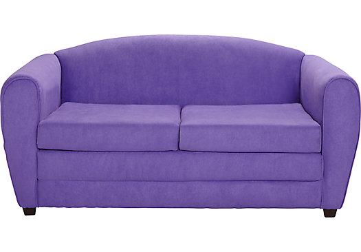 Arezzo Purple Sleeper Sofa 399 99 Sleeper Sofa 60 5w X 30d X 28 5h Mattress 70l X 47w X 5h Find Affordable Seating Sleeper Sofa Sofa Affordable Seating