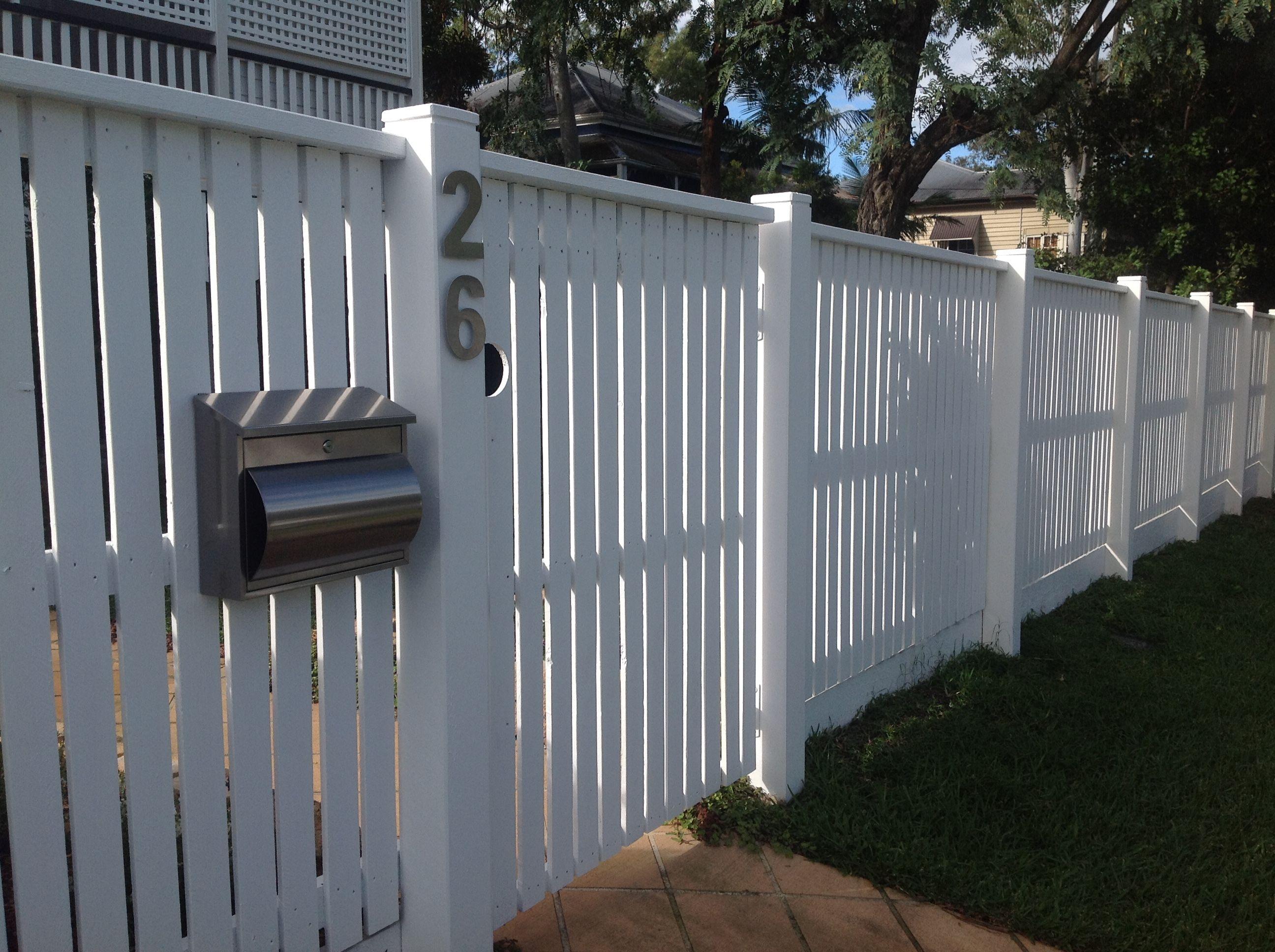 Queensland Meets Hamptons Style Front Fence 125mm Hardwood Posts
