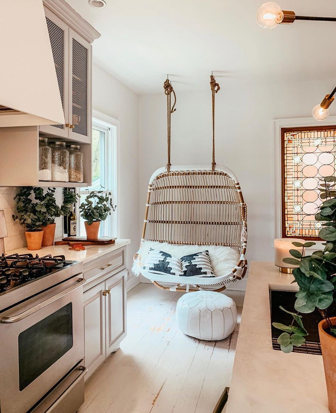 Double hanging rattan chair in 2020 hanging chair living