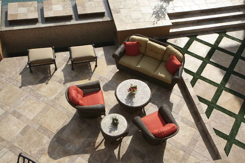 Yard Diamond Patio With Grass Travertine Tile Travertine Outdoor Patio Tiles