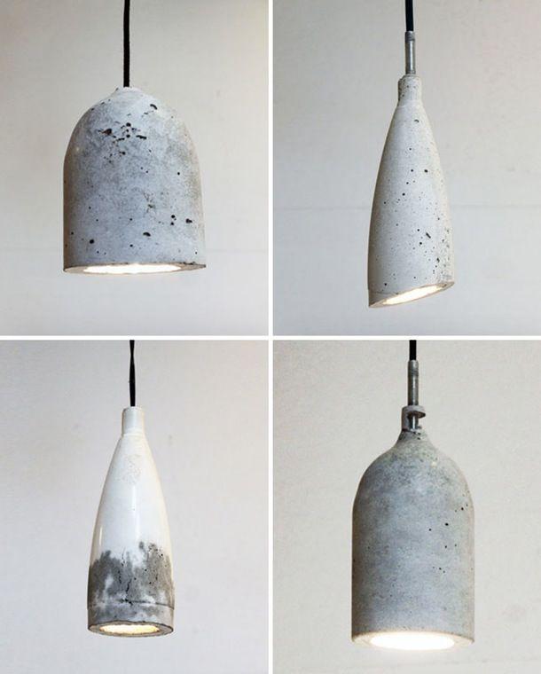 Sådan laver du en rå beton-lampe | Concrete | Beton, Lampe ...