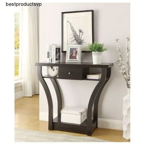 Foyer Console Furniture : Ebay entryway wood console table modern hallway